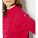 Funnel Neck Cable Knit, ${color}