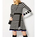 Stripe Knit Skater Dress, ${color}