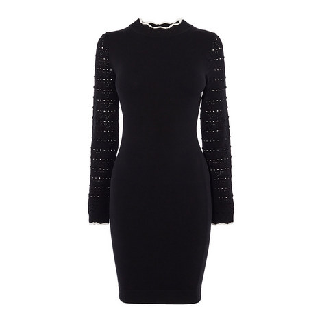 Fitted Knit Dress, ${color}