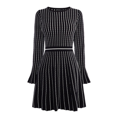 Pin-Stripe Knit Dress, ${color}
