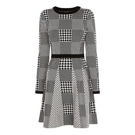 Mini Check Knitted Dress, ${color}