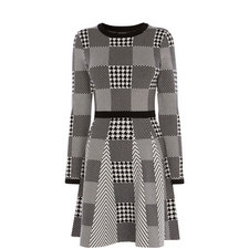 Mini Check Knitted Dress