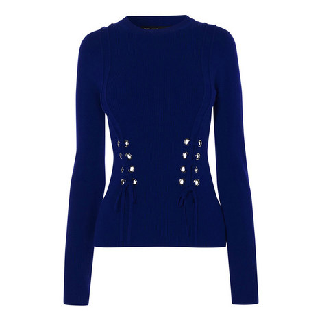 Corset-Effect Sweater, ${color}