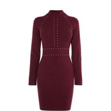 Stud Embellished Bodycon Dress