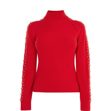 Embellished Roll Neck Jumper