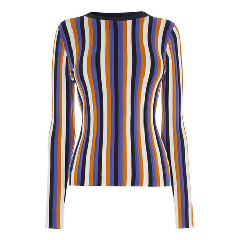 Striped Stretch Jumper, ${color}