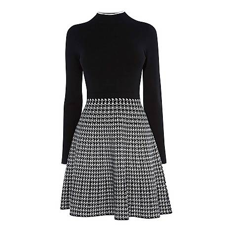 Checked-Skirt Dress, ${color}