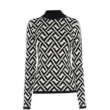 Abstract Monochrome Sweater