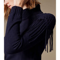Fringed Roll Neck Sweater, ${color}