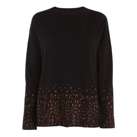 Embellished Hemline Sweater, ${color}
