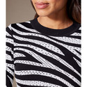 Zebra Print Textured Knit, ${color}