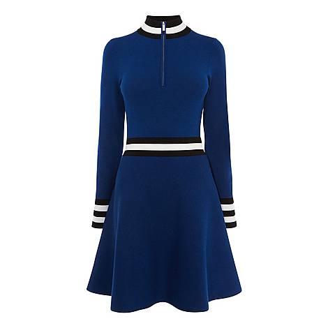 Sporty High Neck Dress, ${color}
