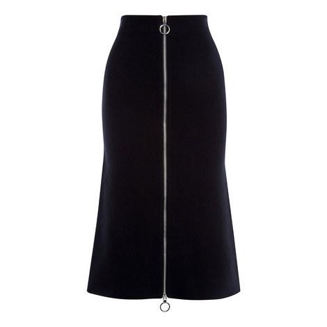 Knitted Midi Zip Skirt, ${color}
