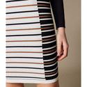 Striped Bodycon Mini Dress, ${color}