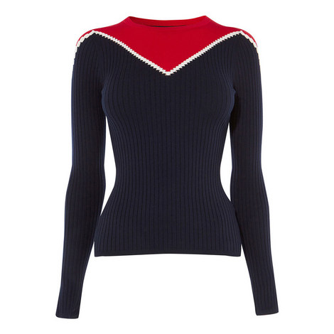 Fitted Knit Sweater, ${color}