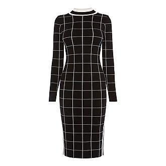 Checked Bodycon Dress