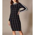 Checked Bodycon Dress, ${color}