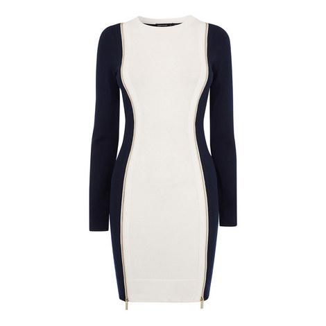 Bodycon Zip Dress, ${color}