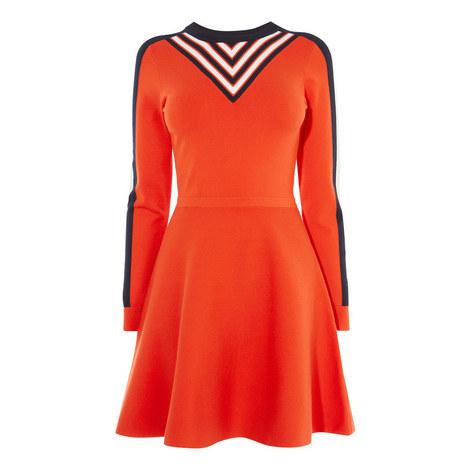 Graphic Stripe Knit Dress, ${color}