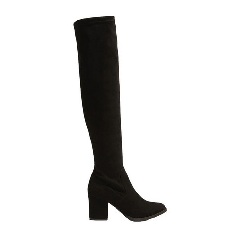 Stretch-Suede Over-Knee Boots, ${color}