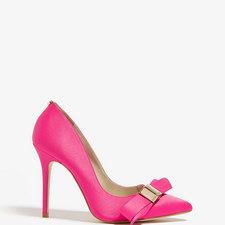 Satin Bow Court Shoes