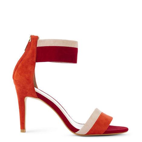 Striped Suede Sandals, ${color}