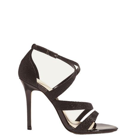 Glitter Strap Sandals, ${color}