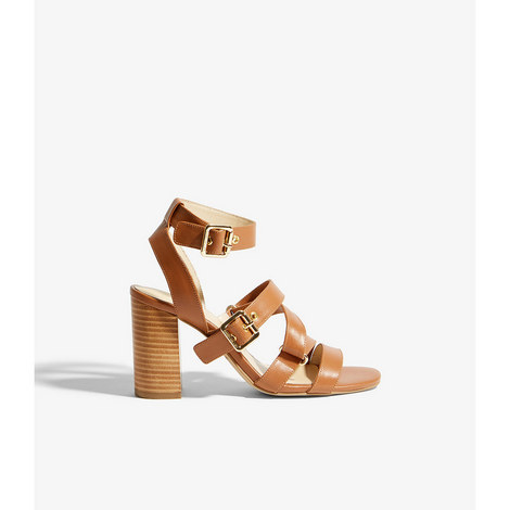 Strappy Buckled Sandals, ${color}