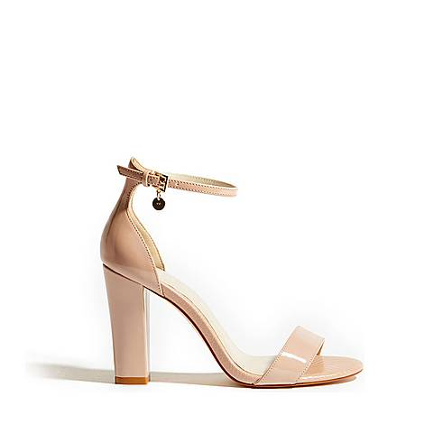 Patent Strappy Sandals, ${color}