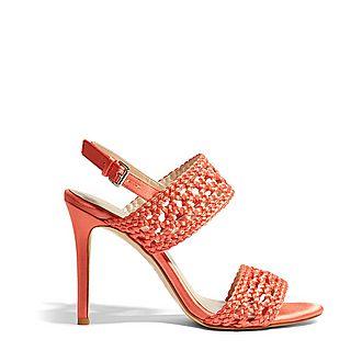 Woven Stiletto Heels