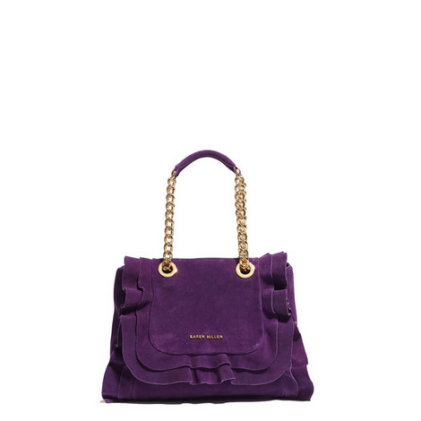 Frilled Chain Strap Bag, ${color}