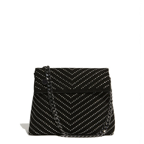 Regent Chevron Studded Bag, ${color}