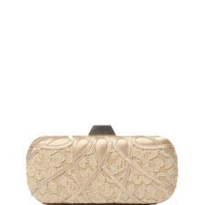 Satin-Lace Box Clutch