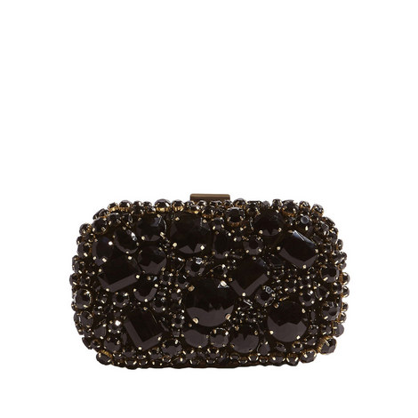 Jewel Encrusted Box Clutch, ${color}
