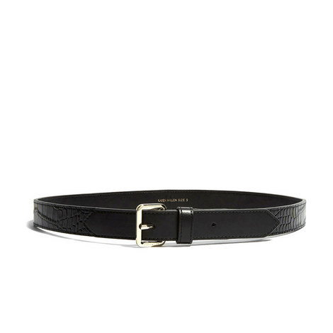 Faux Croc-Skin Belt, ${color}