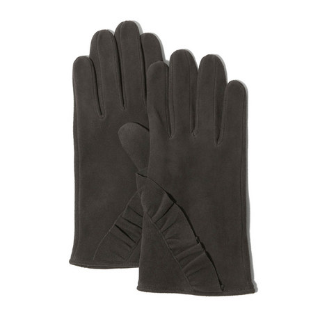 Suede Frill Gloves, ${color}