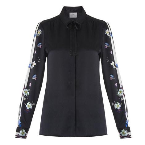 Devoto Tipped Floral Shirt, ${color}