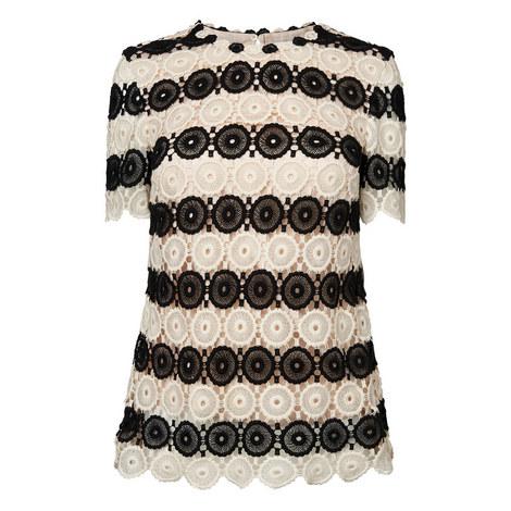 Claudine Crochet Short Sleeve Top, ${color}