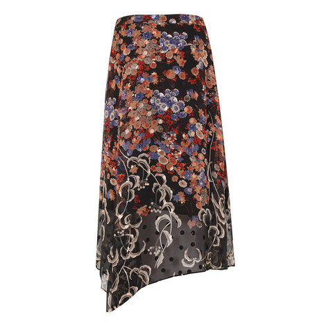 Camille Printed Midi Skirt, ${color}