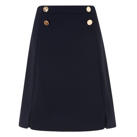 Bay Buttoned A-Line Skirt, ${color}
