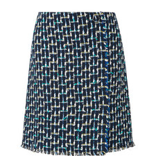 Vetti Tweed Wrap Skirt