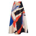 Amina Printed Midi Skirt, ${color}