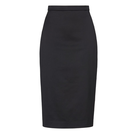 Miranda Sateen Pencil Skirt, ${color}