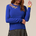 Pattie Embellished Cashmere-Blend Knit, ${color}