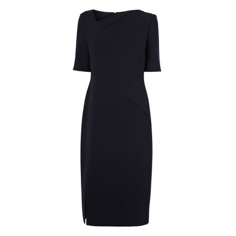 Saskia Seamed Tailored Dress, ${color}