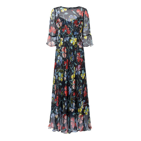 Phia Empire Waist Ruffle Dress, ${color}