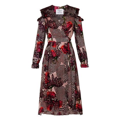 Sioux Floral Check Wrap Dress, ${color}