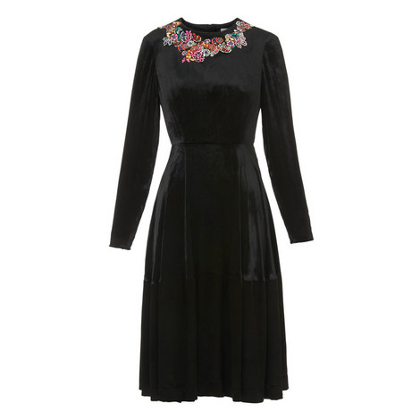 Patti Embellished Velvet Dress, ${color}