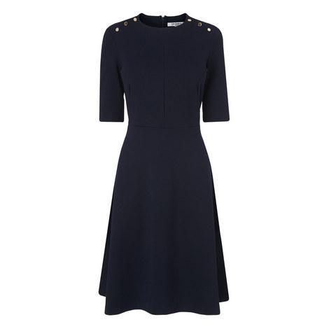 Casey Ponte A-Line Dress, ${color}