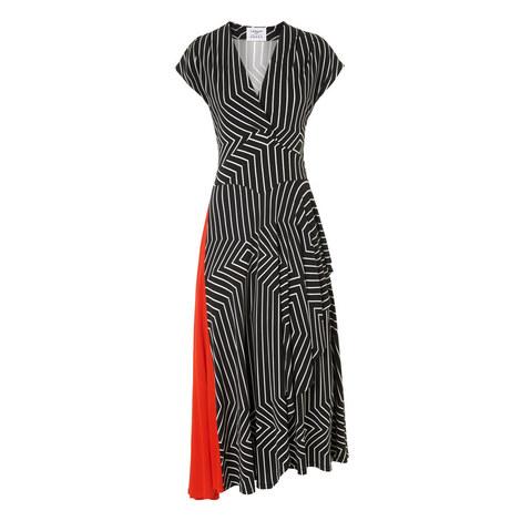 Shelly Draped Jersey Dress, ${color}